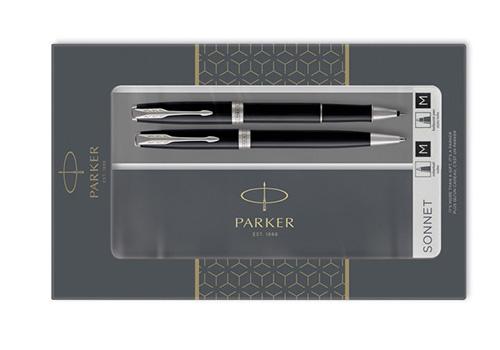 pouzdro Parker Sonnet Black CT - sada