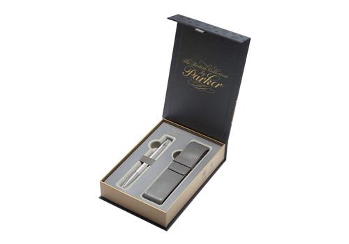 pouzdro Parker Royal Urban Premium Pearl Metal CT - sada
