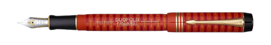 Parker Royal Duofold 100th Red GT- limitovaná edice